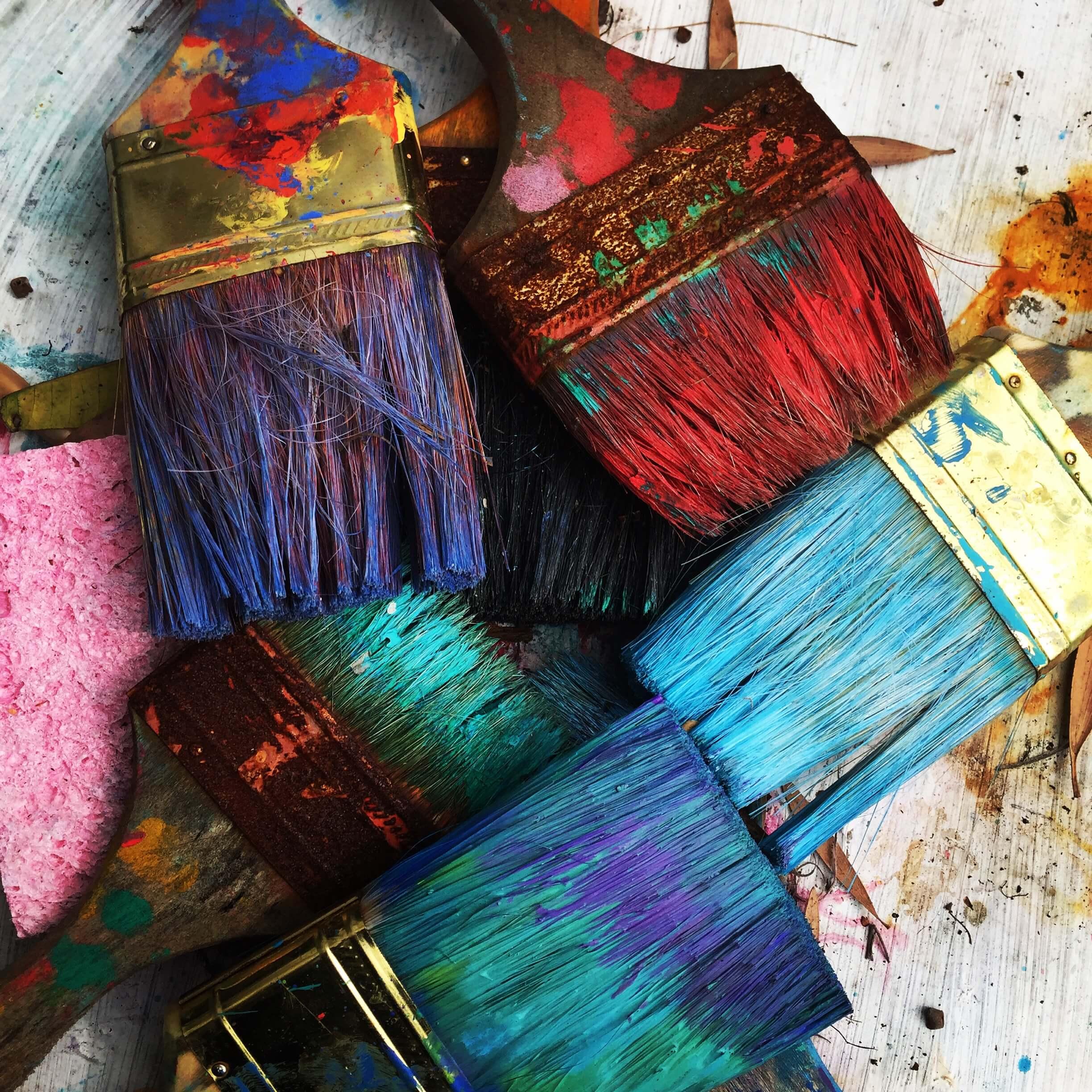 malovanie a stetce, farby